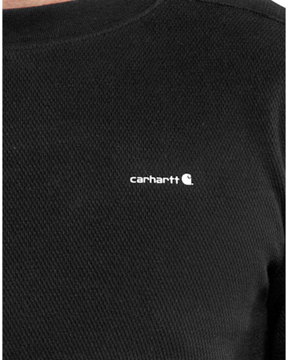 Carhartt Moisture-Wicking Thermal Under Shirt, Black, hi-res