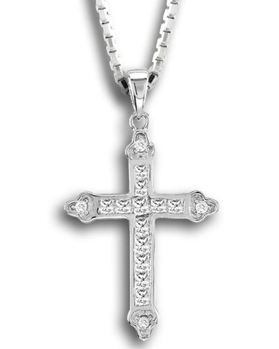 Kelly Herd Women's Silver Cross Pendant Necklace , Silver, hi-res