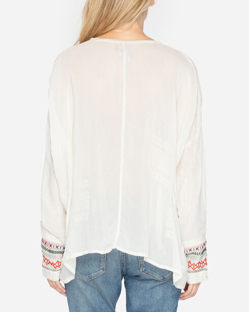 Johnny Was Women's Melvin Button-Down Shirt, Ivory, hi-res