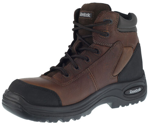 "Reebok Men's 6"" Trainex Boots - Composite Toe, Brown, hi-res"