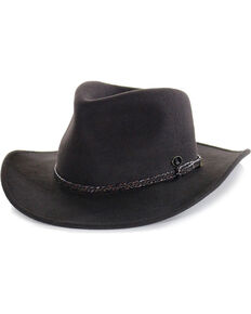 Cody James Men's Outback Wool Hat , Chocolate, hi-res