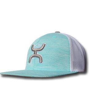 "Hooey Turquoise ""Hooey Wrap"" Twill Front Snapback Baseball Cap , Turquoise, hi-res"