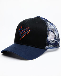 Hawx Men's Navy Camo Logo Mesh-Back Ball Cap , Navy, hi-res