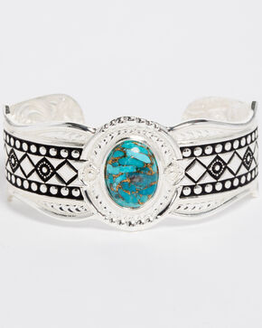Montana Silversmiths Women's Phases Of The World Cuff Bracelet , Silver, hi-res