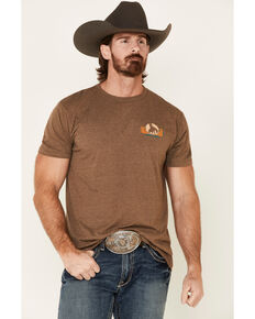 Cody James Men's American Rodeo Graphic Short Sleeve T-Shirt , Brown, hi-res