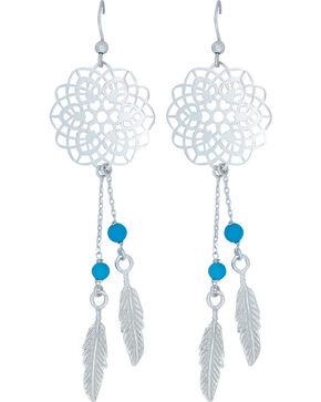 Montana Silversmiths Women's Dream Weaver Earrings, Silver, hi-res