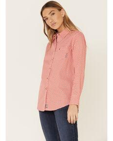 Ariat Women's FR Sofia Work Shirt, Red, hi-res
