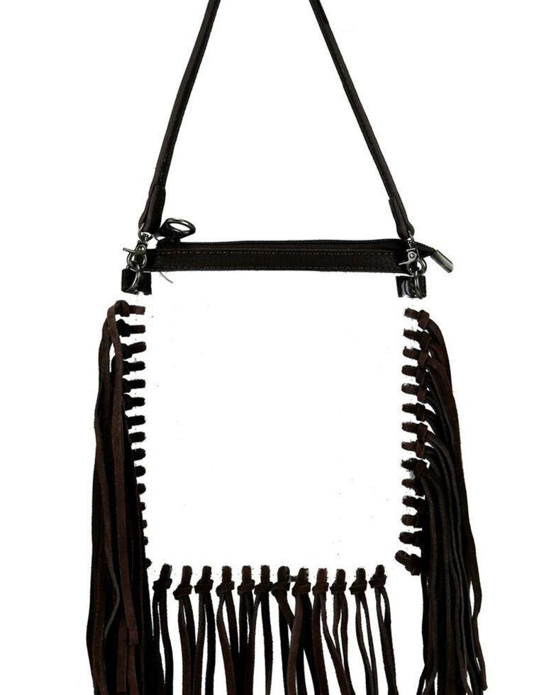 Montana West Women's Clear Fringe Crossbody Bag, Coffee, hi-res