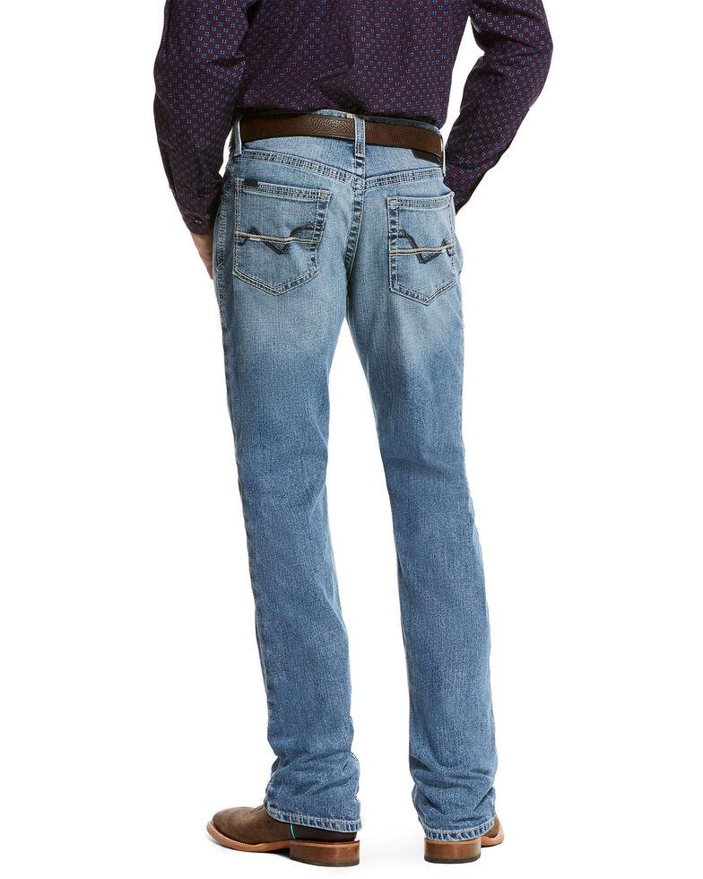 Ariat Men's Nolan Coleman Relaxed Straight Leg Jeans - Big , Blue, hi-res