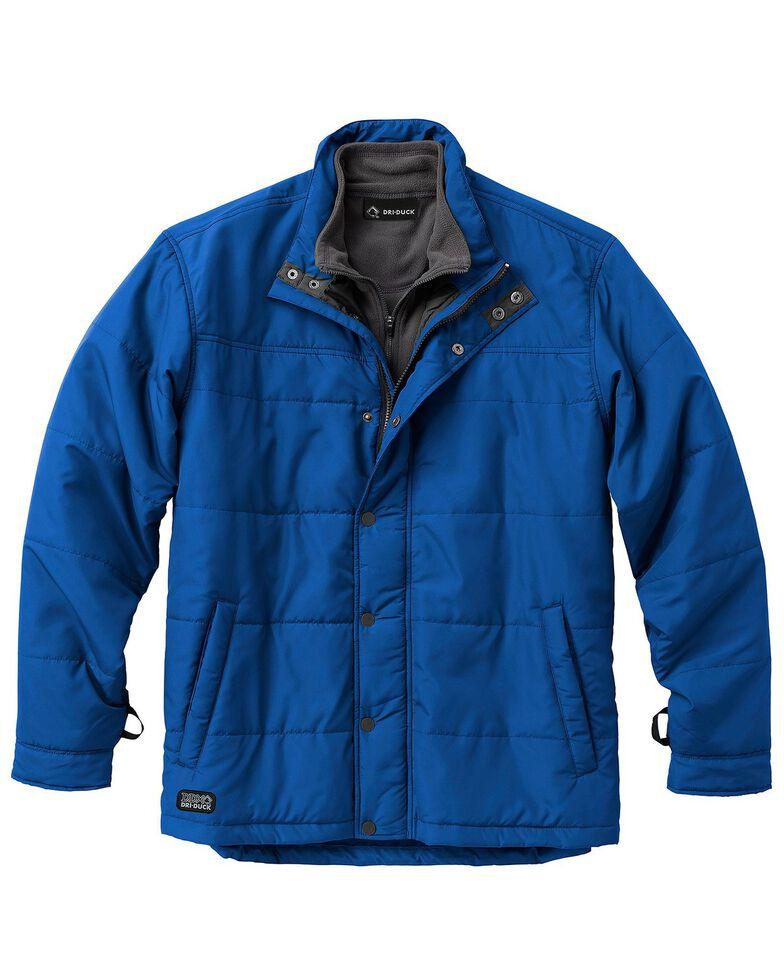 Dri Duck Men's Traverse Polyester Jacket - 3X & 4X, Blue, hi-res