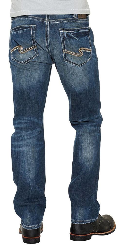 Silver Men's Grayson Easy Fit Straight Jeans, Indigo, hi-res