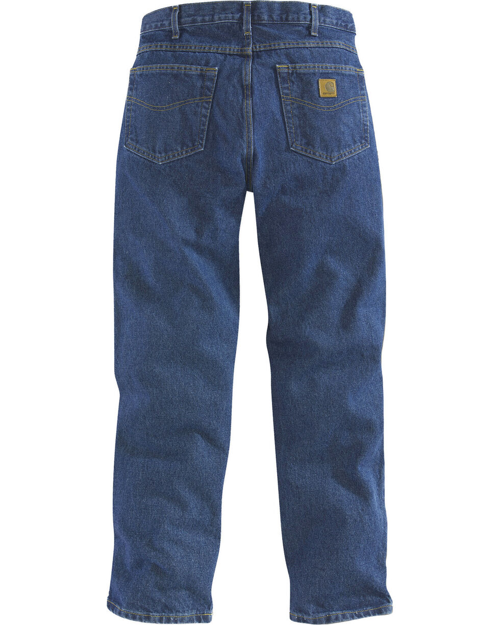 Carhartt Jeans - Relaxed Fit Work Jeans - Big & Tall, Dark Stone, hi-res