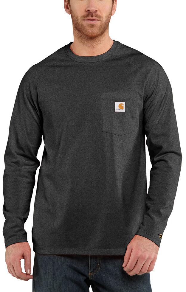 Carhartt Force Long Sleeve Work Shirt - Big & Tall, Dark Grey, hi-res