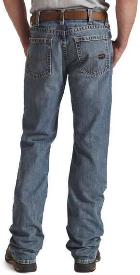 Ariat Men's Flame-Resistant M5 Straight Leg Work Jeans, Denim, hi-res