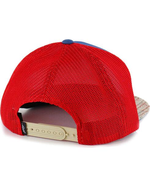 HOOey Men's Tweed Snapback Logo Ball Cap, Blue/red, hi-res