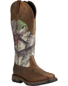 Ariat Men's Conquest Waterproof Snakeproof Boots - Square Toe, Earth, hi-res