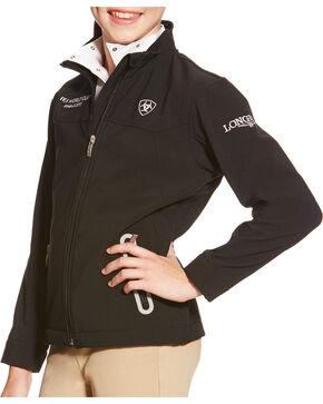 Ariat Children's Black FEI Team Softshell Jacket , Black, hi-res