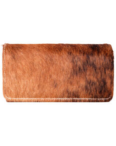 Trinity Ranch Women's Secretary Wallet, Brown, hi-res