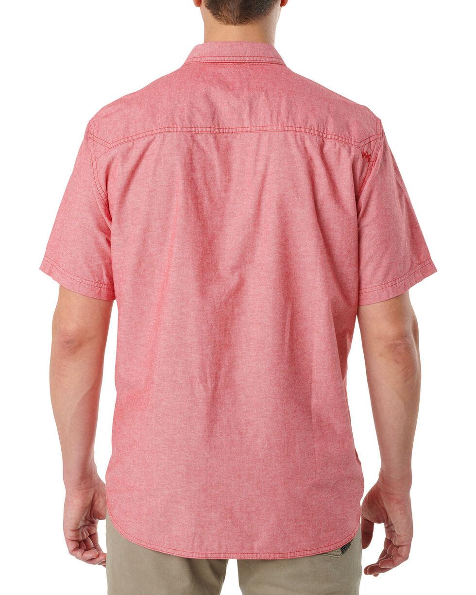 5.11 Tactical Men's Ares Short Sleeve Shirt , Red, hi-res