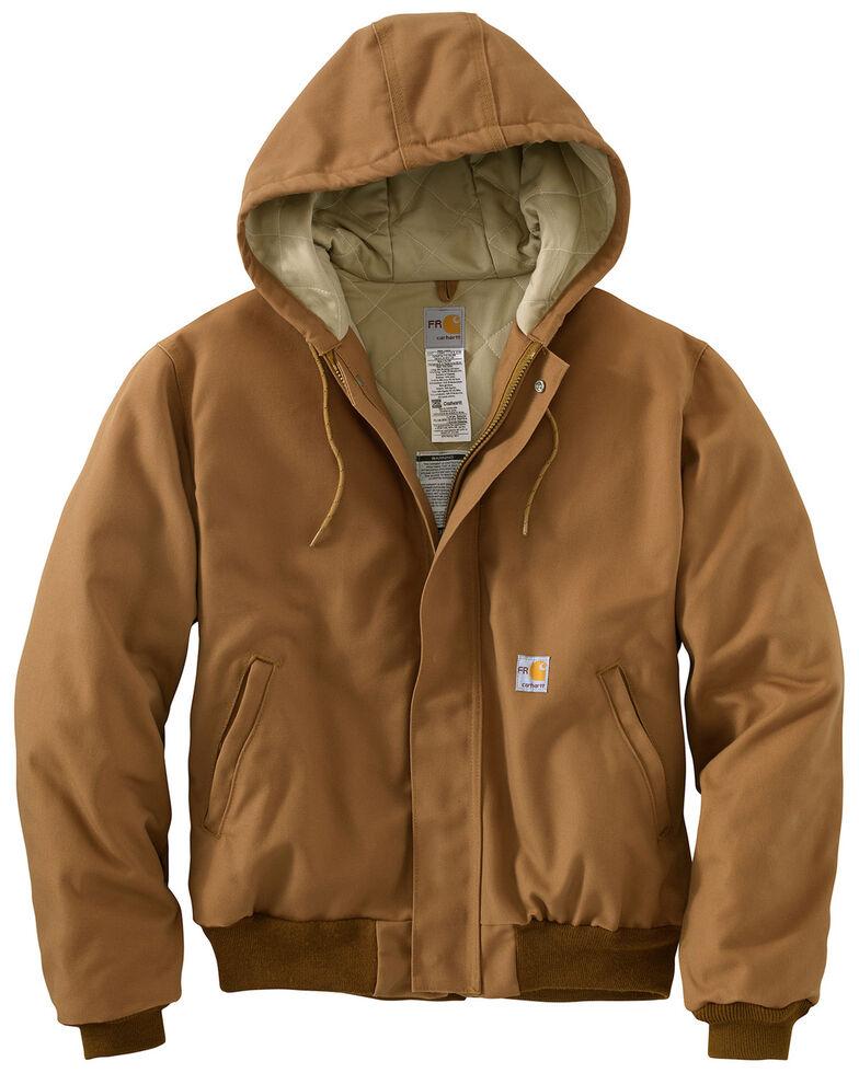 Carhartt Flame-Resistant Duck Active Hooded Jacket - Big & Tall, Carhartt Brown, hi-res