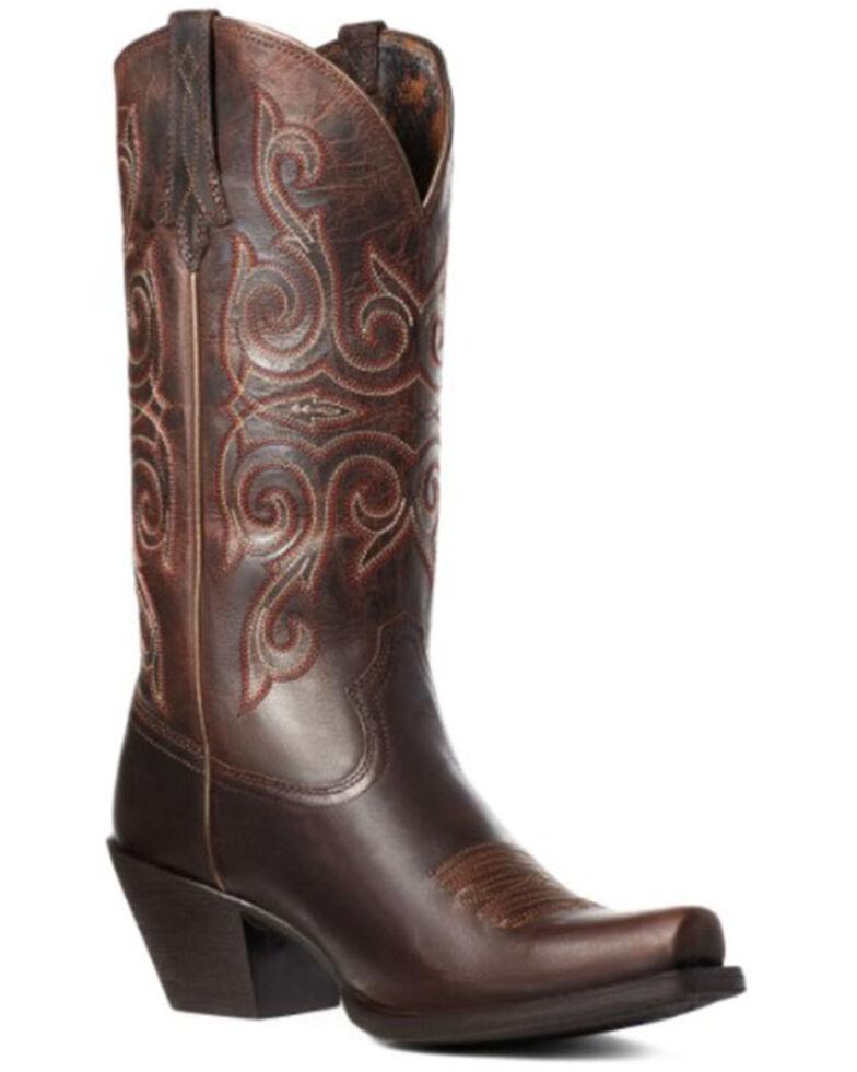 Ariat Women's Round Up Lakota Western Boots - Snip Toe, Brown, hi-res