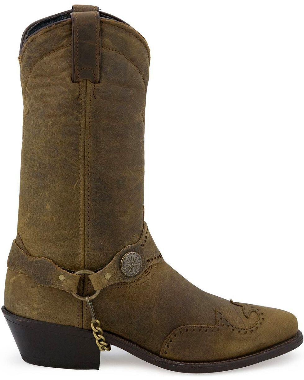 Sage by Abilene Men's Wingtip Harness Cowboy Boots - Medium Toe, Distressed, hi-res