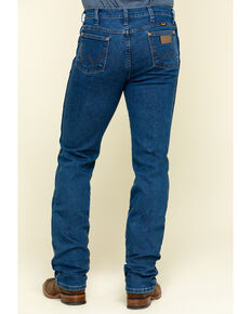 Wrangler Men's Active Flex Stonewash Slim Cowboy Cut Jeans - Big , Blue, hi-res