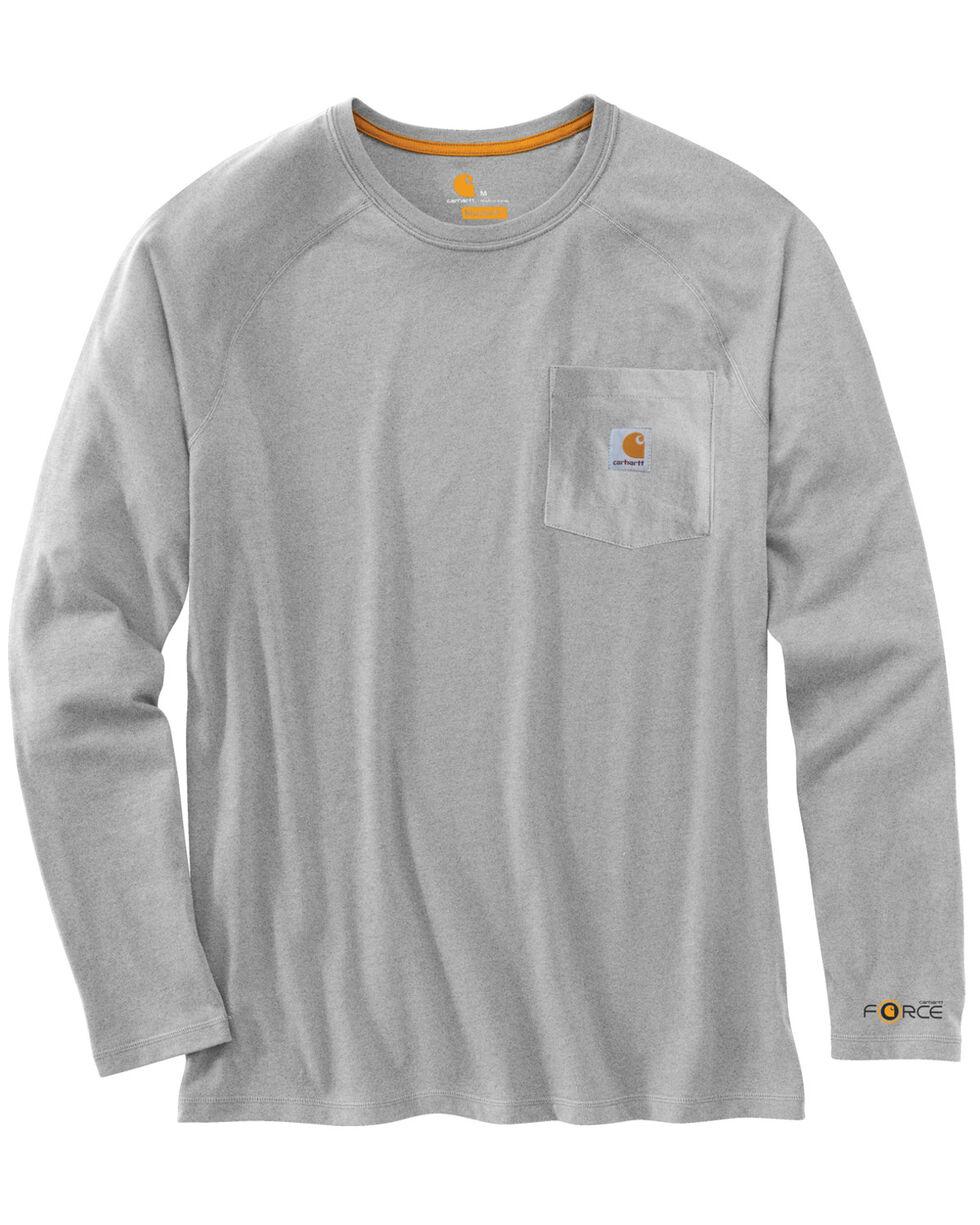 Carhartt Force Long Sleeve Work Shirt, Grey, hi-res