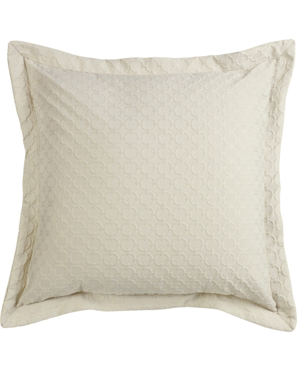 HiEnd Accents Piedmont Off-White Chain Link Euro Sham, Multi, hi-res