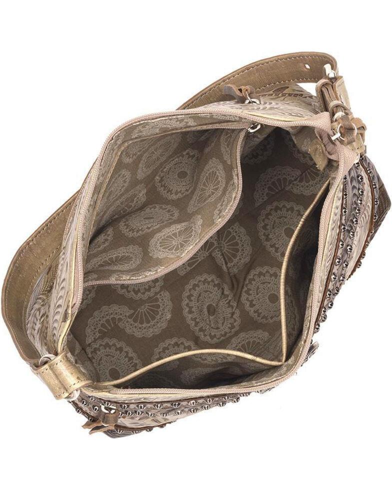 American West Women's Saddle Ridge Zip Top Shoulder Bag , Sand, hi-res