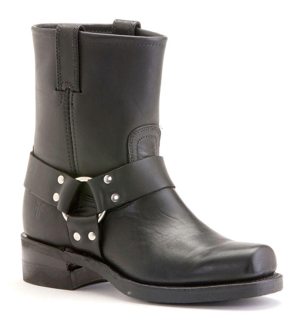 Frye Men's Belt Harness 8R Boots - Square Toe, Black, hi-res