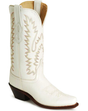 Old West Fashion Cowgirl Boots, White, hi-res