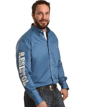 Resistol Men's Blue Argyle Marketing Western Shirt , Blue, hi-res