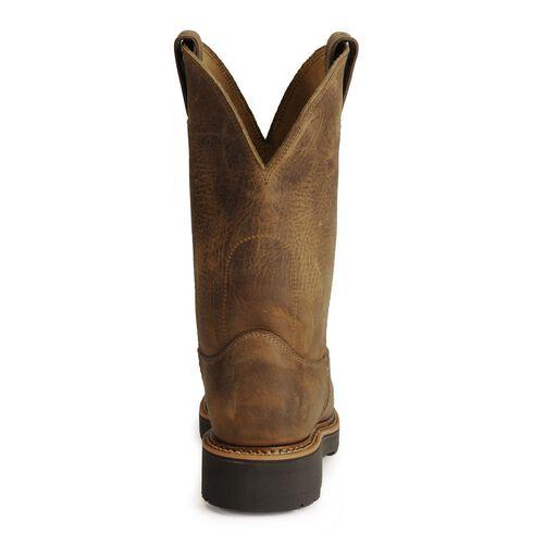 Justin J-Max Pull-On Western Work Boots - Steel Toe, Tan, hi-res
