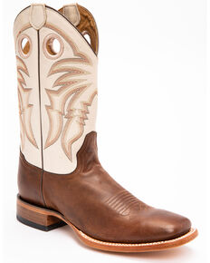 Cody James Men's Full-Grain Leather Western Boots - Wide Square Toe, Brown, hi-res