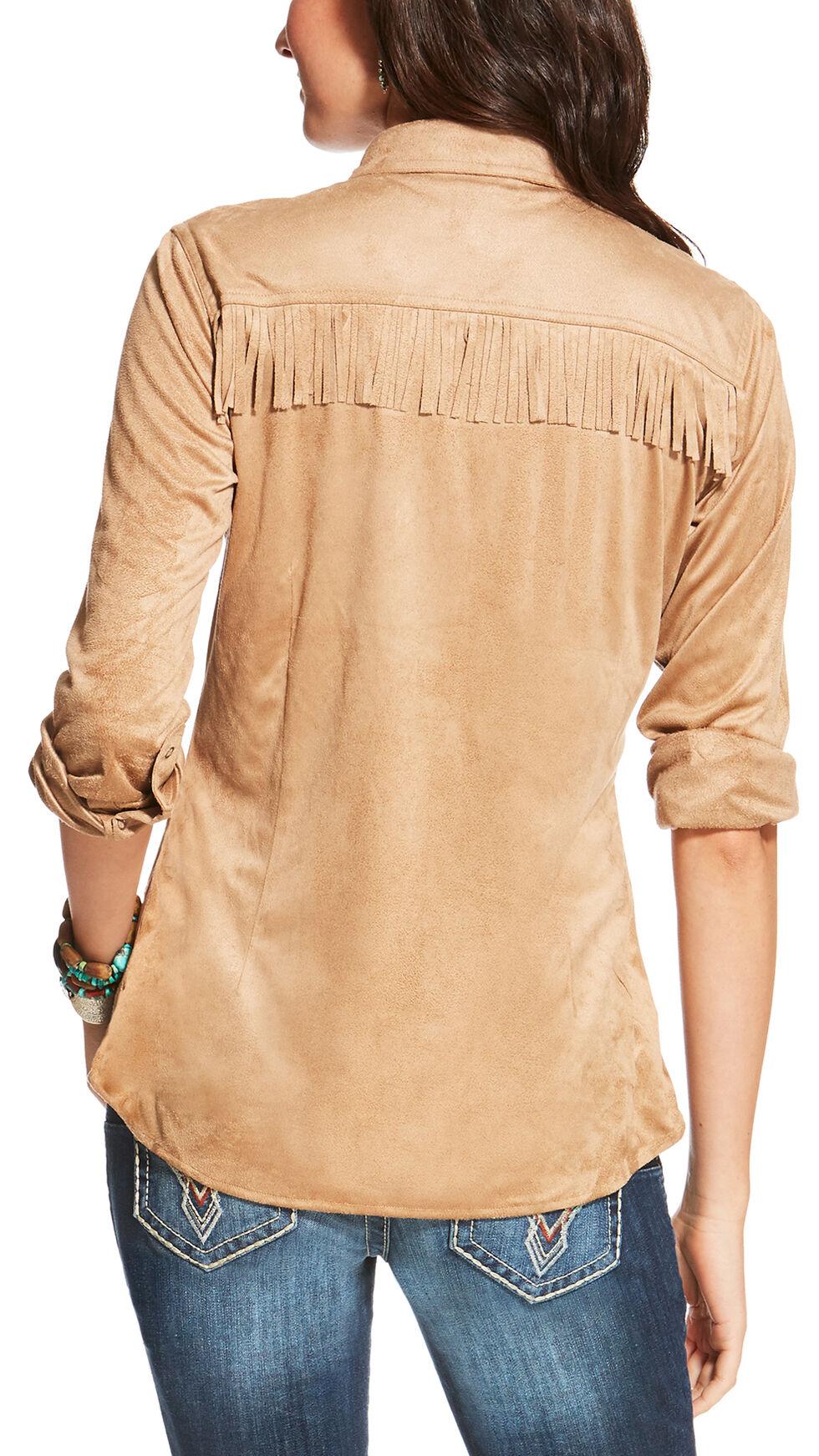 Ariat Women's Tan Shasta Snap Shirt , Tan, hi-res