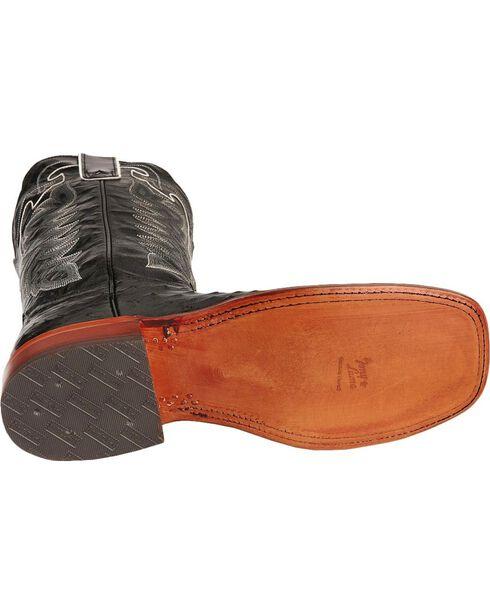 Tony Lama San Saba Full Quill Ostrich Cowboy Boots - Wide Square Toe, , hi-res