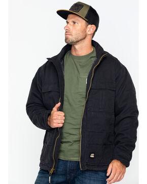 Berne Men's Flex 180 Washed Chore Work Coat , Black, hi-res