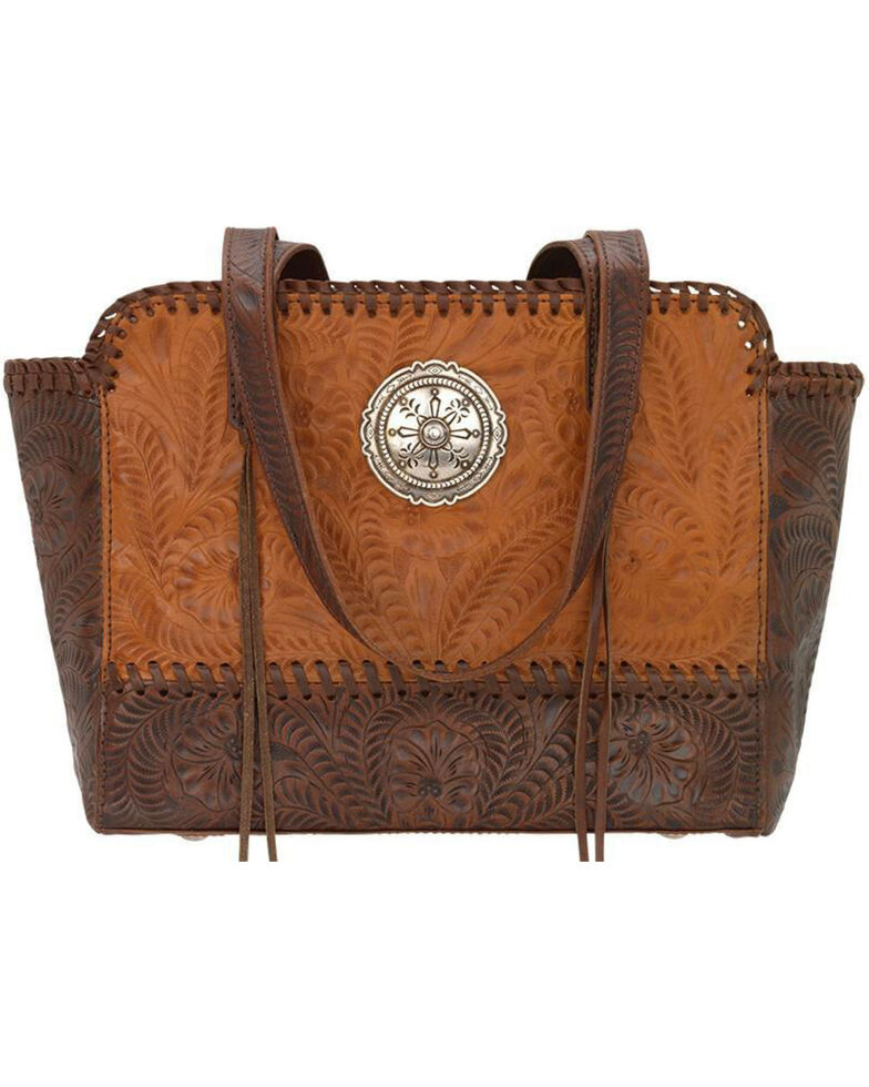 American West Women's Copper Annie's Concealed Carry Tote , Rust Copper, hi-res