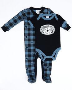 Cody James Infant Boys' Rodeo Star Onesie Pajama Set , Black, hi-res