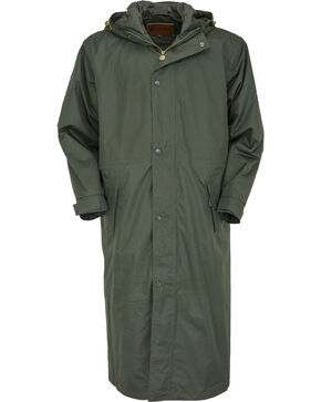 Outback Pak-A-Roo Waterproof Duster *Images 301/341 sent 1/2/18, Dark Green, hi-res