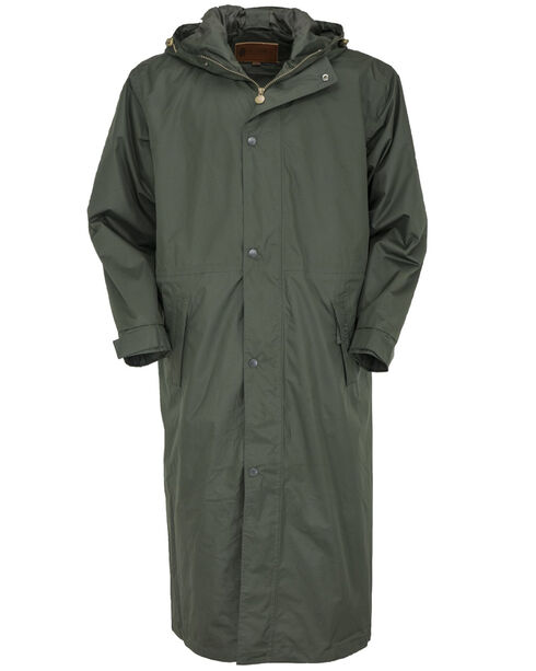 Outback Pak-A-Roo Waterproof Duster *Images 301/341 sent 1/2/18, Olive, hi-res
