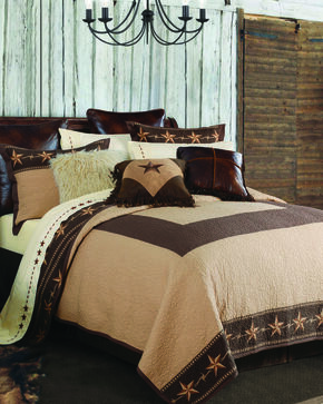 HiEnd Accents Star Ranch 3-Piece Quilt Set - King, Brown, hi-res