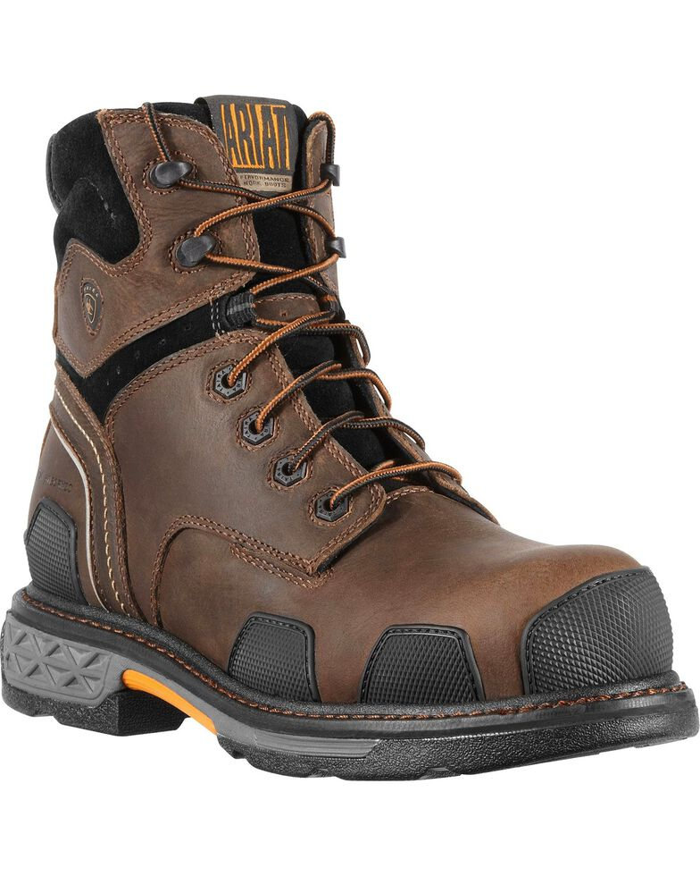 """Ariat Overdrive 6"""" Lace-Up Work Boots - Composite Toe, , hi-res"""