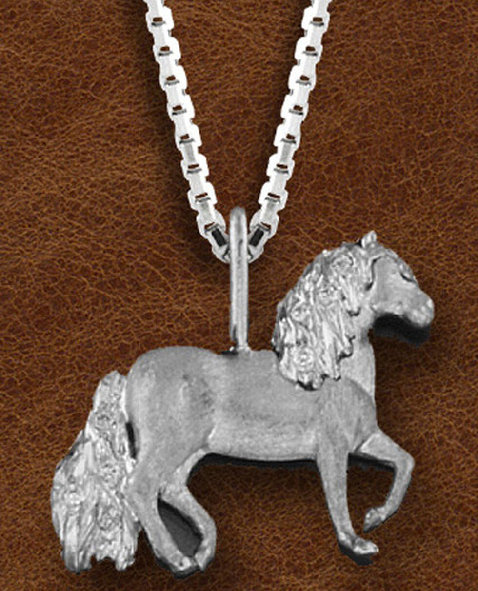 Kelly Herd Women's Sterling Silver Paso Fino Pendant Necklace, Silver, hi-res