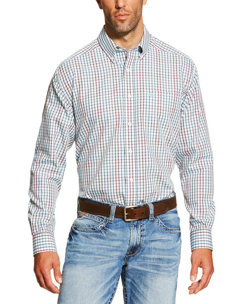 Ariat Men's Hamilton Plaid Long Sleeve Western Shirt , Multi, hi-res