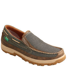 Twisted X Men's Slip-On CellStretch Shoes - Moc Toe, Multi, hi-res