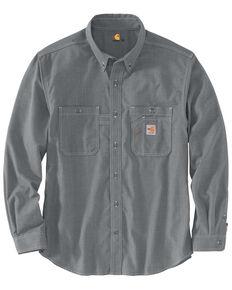 Carhartt Men's FR Force LW Performance Woven Long Sleeve Work Shirt - Big , Grey, hi-res