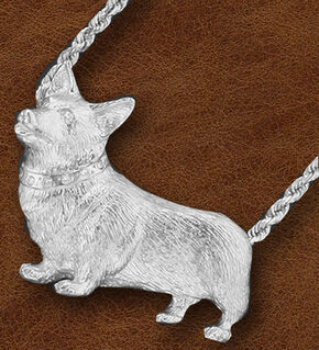 Kelly Herd Women's Sterling Silver Large Corgi Necklace, Silver, hi-res