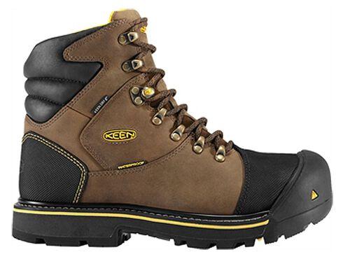 Keen Men's Milwaukee Mid Waterproof Boots - Steel Toe, Earth, hi-res